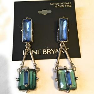 Lane Bryant Blue Dangle Earrings and Free Pair!
